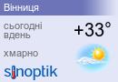 Прогноз погоди у Вінниці