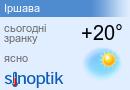 Прогноз погоди в Іршаві