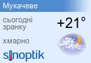 Прогноз погоди у Мукачеві