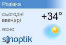 Прогноз погоди у Розівці