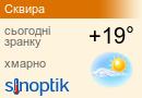 Прогноз погоди у Сквирі