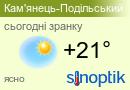 Прогноз погоди у Кам'янці-Подільському
