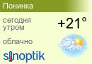Прогноз погоды в Понинке